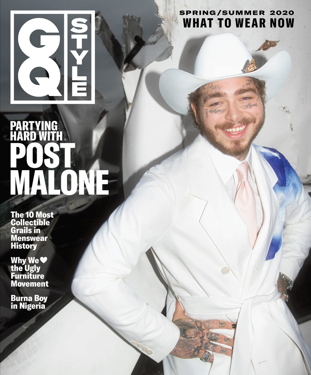 .@PostMalone covers the Spring/Summer issue of @GQStyle