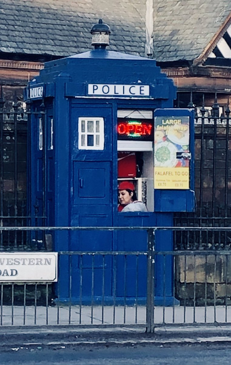 """In a world that's terrifying and fragmented it's worth remembering there is a falafel stand in Glasgow that travels through space and time.  And there's a """"to go"""" option although there's plenty of seating inside."""