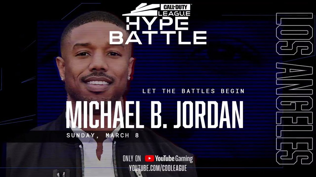 Live in Los Angeles: @michaelb4jordan joins us this weekend to show off his talents in our 2v2 Hype Battle!  Tune in this Sunday on  tickets available at  #CDL2020
