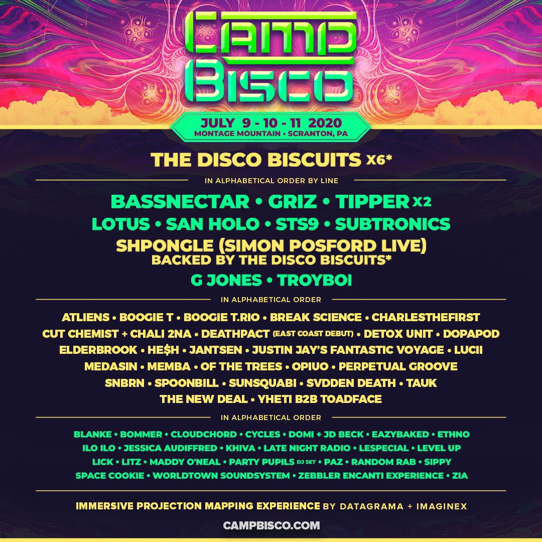 2020 Camp Bisco lineup