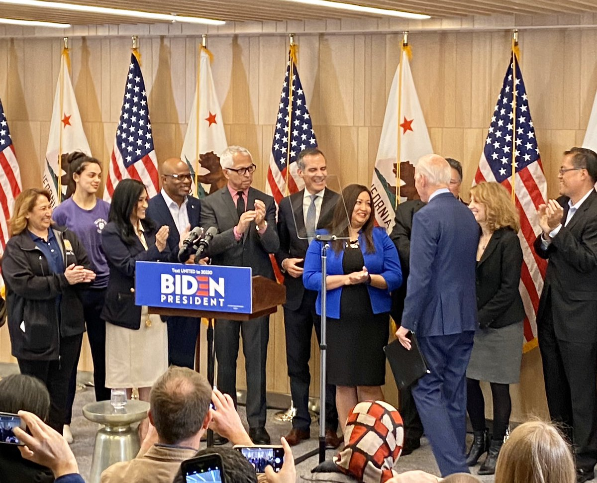 LA turned out big for @JoeBiden again today! He has the biggest heart in the race, is the best friend to LA in the race and now has the most momentum in the race. Let's Go Joe!