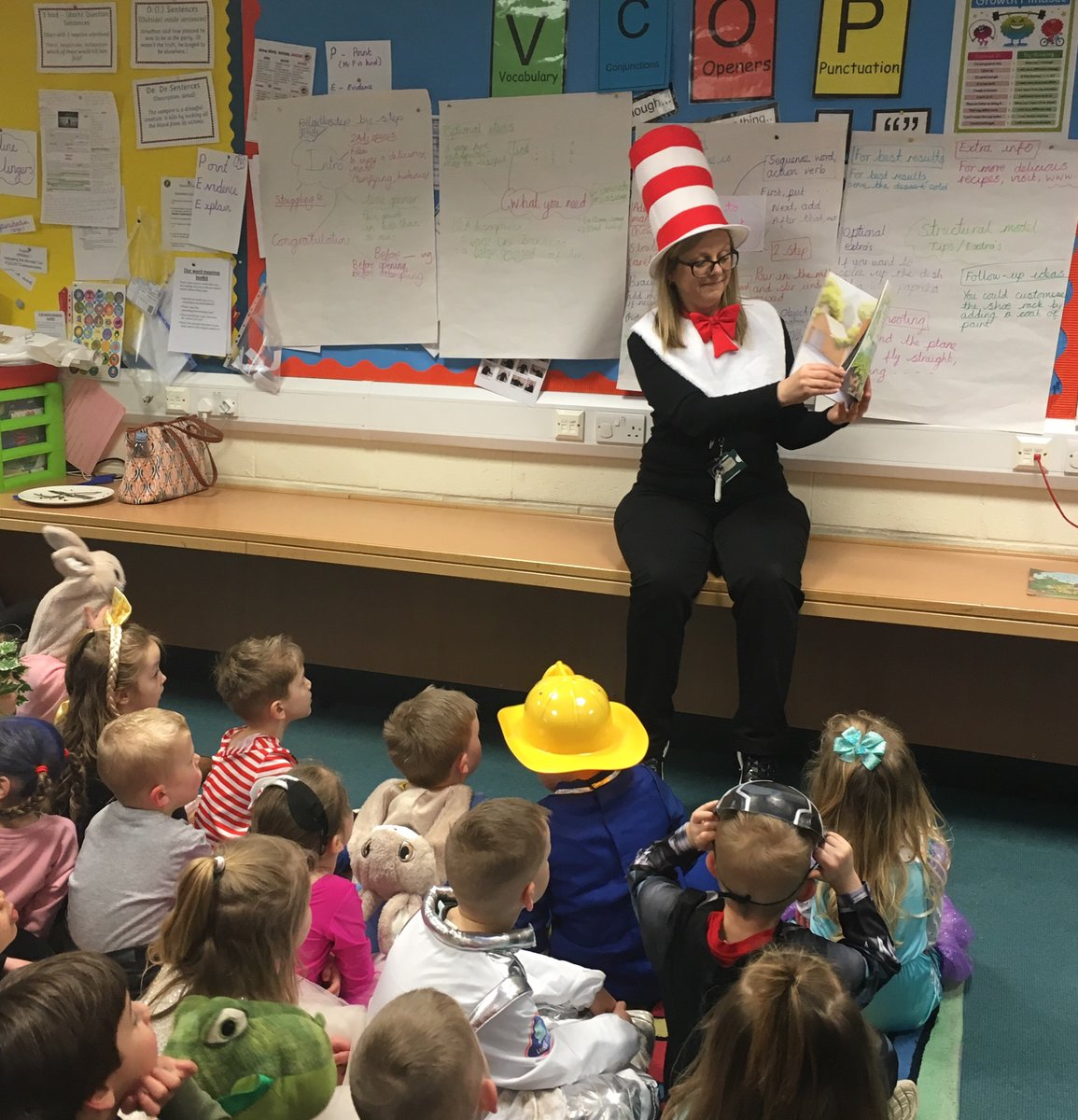 test Twitter Media - Reception class enjoyed hearing Six Dinner Sid by #Inga Moore read by our Cat in the Hat Librarian, Mrs Haddock! #WorldBookDay2020 #ShareAStory #readingispower https://t.co/6hPa4wtGv4