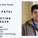 Please join us in welcoming Dipak Patel as he joins our team as the Marketing Manager. https://t.co/ezvWu4vvVM