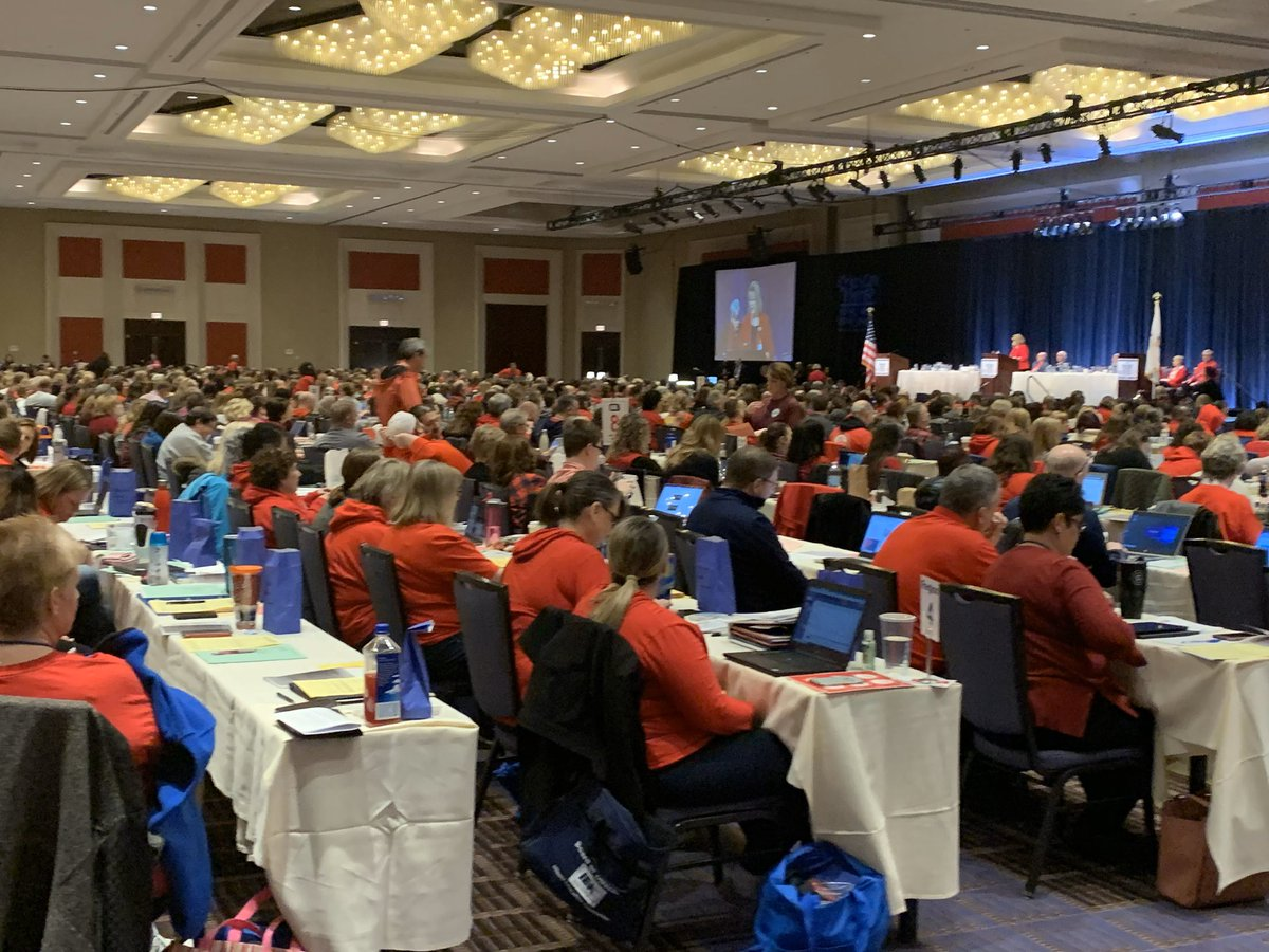 """It's a pleasure to be in Chicago this morning with so many fellow educators from @ieanea. """"We give our whole hearts to our students."""" #RedforEd #SOEd2020"""