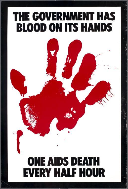 At height of the AIDS epidemic, posters like this popped up all over US cities. With #coronavirus, @realDonaldTrump and those in his administration who don't stand up against his disinformation, bumbling incompetence will, once again, have blood on their hands. @actupny #granfury