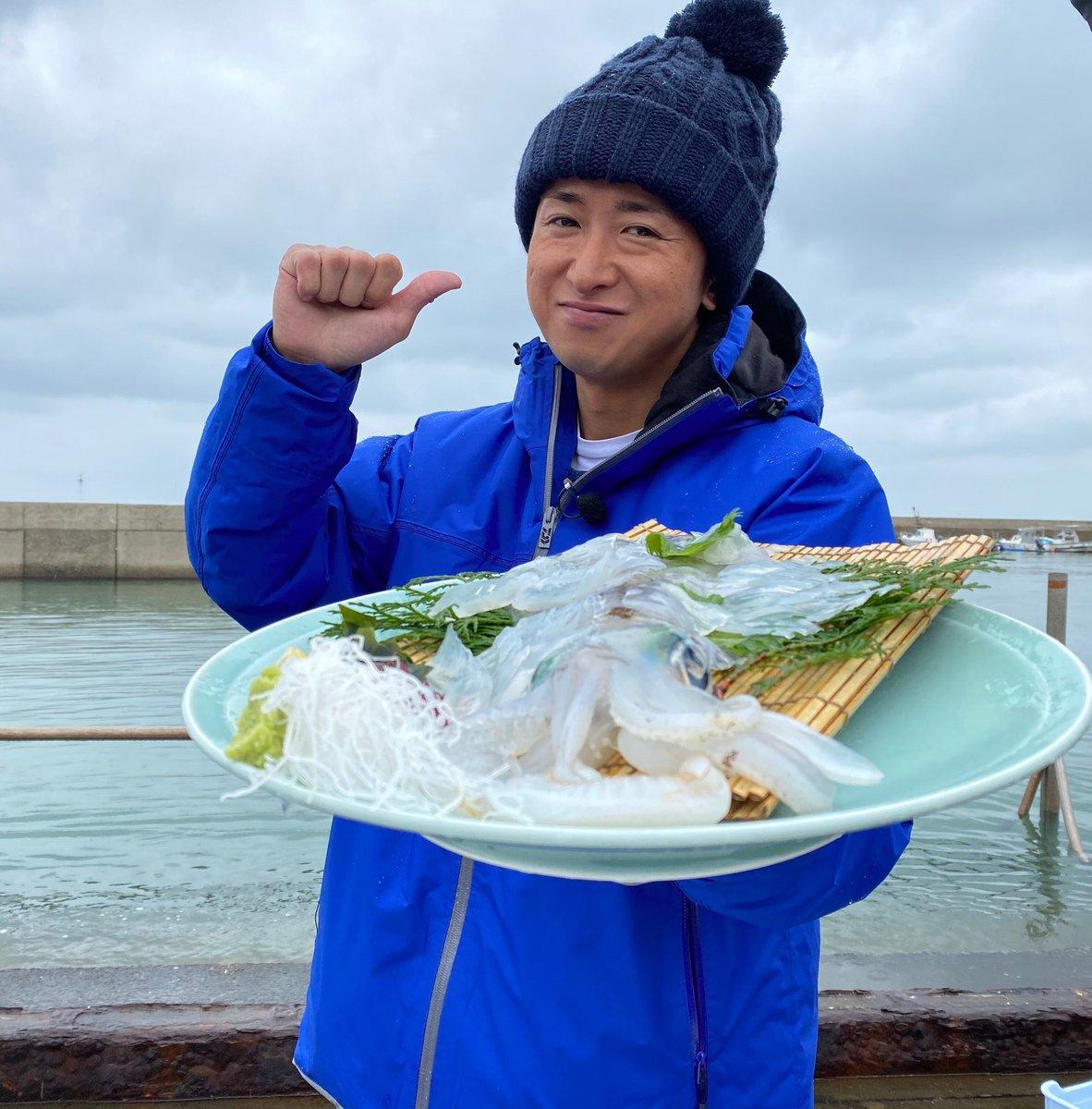 釣ってないけど食べたぜ! I didn't catch these myself but I did eat them! #Ohno #嵐 #ARASHI