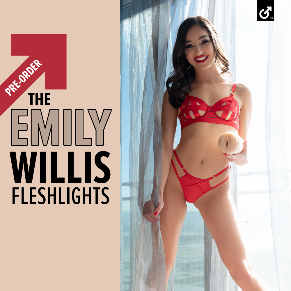 Congratulations to our newest Fleshlight Girl @emilywillisxoxo! Welcome to the family!💕 Pre-order her Fleshlights now, only at