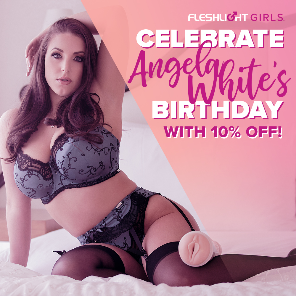 Celebrate Fleshlight Girl @ANGELAWHITE's birthday ALL MONTH with 10% off her Fleshlight by using coupon code MARCHBDAY at checkout! Only at