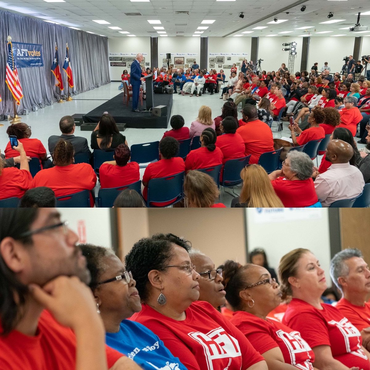 Thank you, @AFTunion, for endorsing @JoeBiden. Educators understand what our students need, and that's why so many are standing with my husband, Joe. This is our moment!