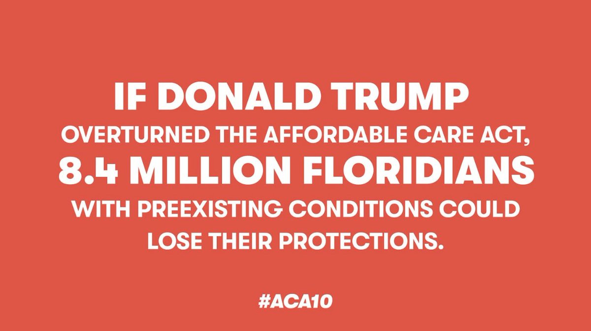 Trump doesn't know how to keep us healthy. Trump doesn't know how to keep us safe. #ACA10