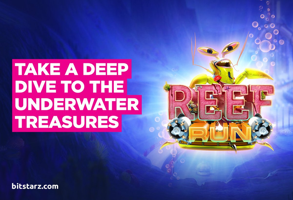 Dive Into the Action Below the Surface and Win Big in Reef Run from @YggdrasilGaming.  #BitStarz #ReefRun #OnlineSlots #SlotGames #OnlineCasino #BitcoinCasino #GameGuide