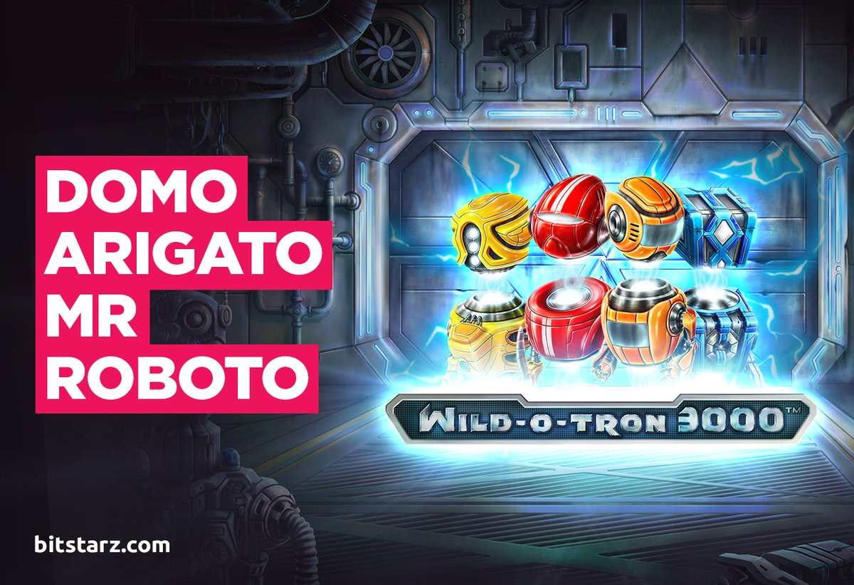 Sparks are flying and the #payouts are epic in Wild-O-Tron 3000 from @NetEntOfficial.   #WildOTron3000  #BitStarz #GameGuide #OnlineSlots #SlotGames #OnlineCasino #BitcoinCasino