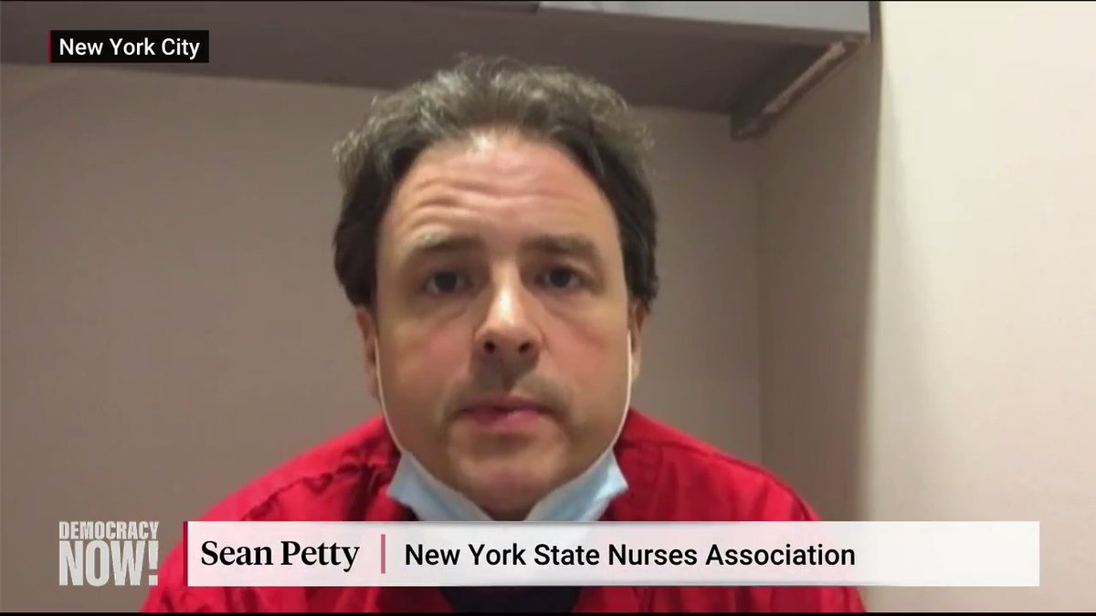 """.@NYGovCuomo is winning praise during the coronavirus crisis, but ER nurse Sean Petty says Cuomo is probably the person most responsible for a shortage of hospital beds. """"In New York state, we've gone from 73,000 beds to 53,000 beds"""" since 2000, he says."""