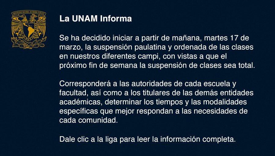 #BoletínUNAM La UNAM informa >