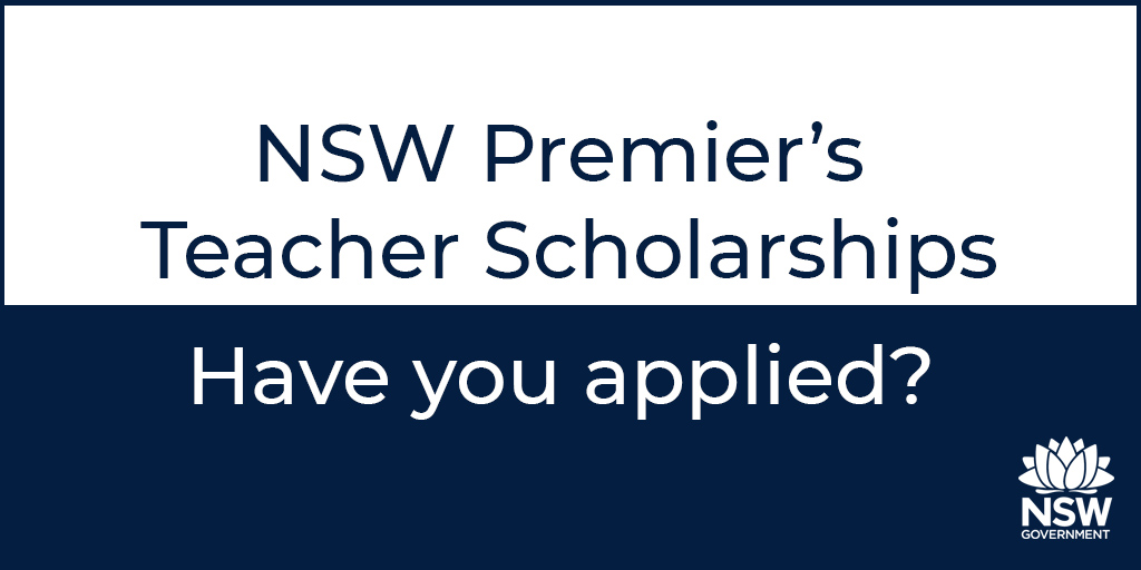 Enhance your application for a NSW Premier's Teacher Scholarship with helpful tips and tricks found in this week's edition of JobFeed. Find out more at: https://t.co/RKFM58BP5D. #teachNSW #PTS21 #JobFeed https://t.co/dB0rzAJ7my
