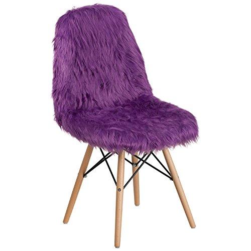 #purpleofficechairs #Accent Flash Furniture Shaggy Dog Purple Accent Chair...