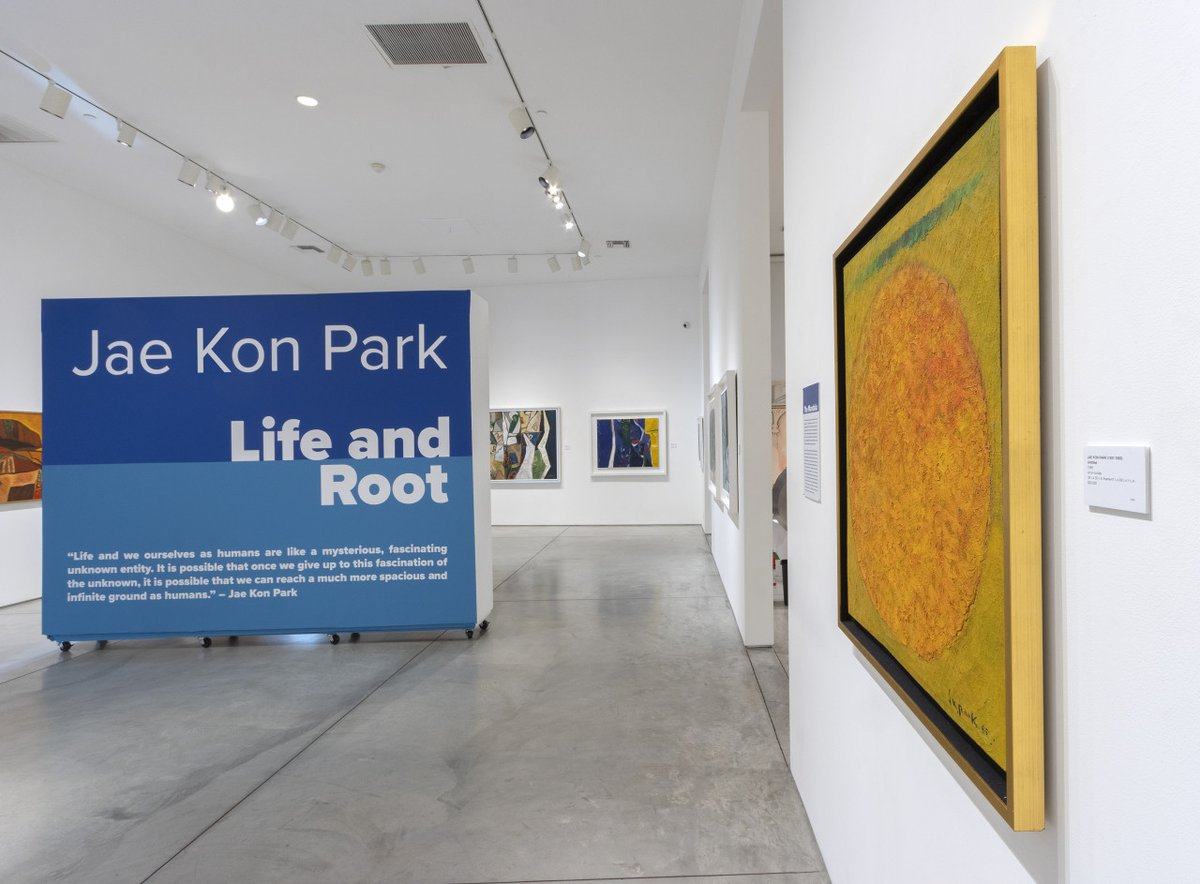 """""""Art is work to us who are living right now, it is our livelihood, and it is also the unfinished life otherwise kn...   #heatherjamesfineart #jaekonpark #koreanartist #abstractart #modernart #southamerican #asianart #artexhibition #palmdesert #palmsprings"""