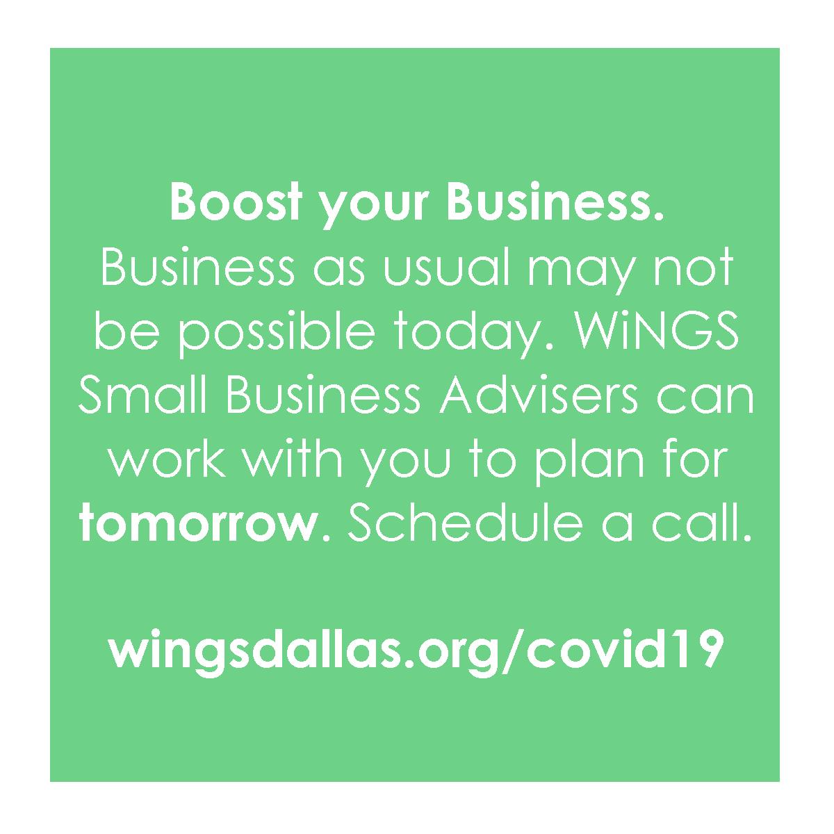 test Twitter Media - WiNGS Small Business Advisers are available for one-on-one business advising over the phone at no cost to all women-owned businesses in the DFW area with less than 5 employees. For more info and to schedule your call, visit https://t.co/x3wJeniB9i. #womenowned #poweredbywings https://t.co/Do63vitFpN