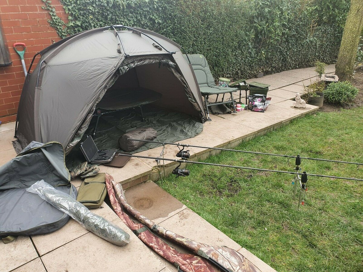 Ad - Carp Fishing complete set up with Titan Hide <b>Bivvy</b> On eBay here -->> https://t.co/