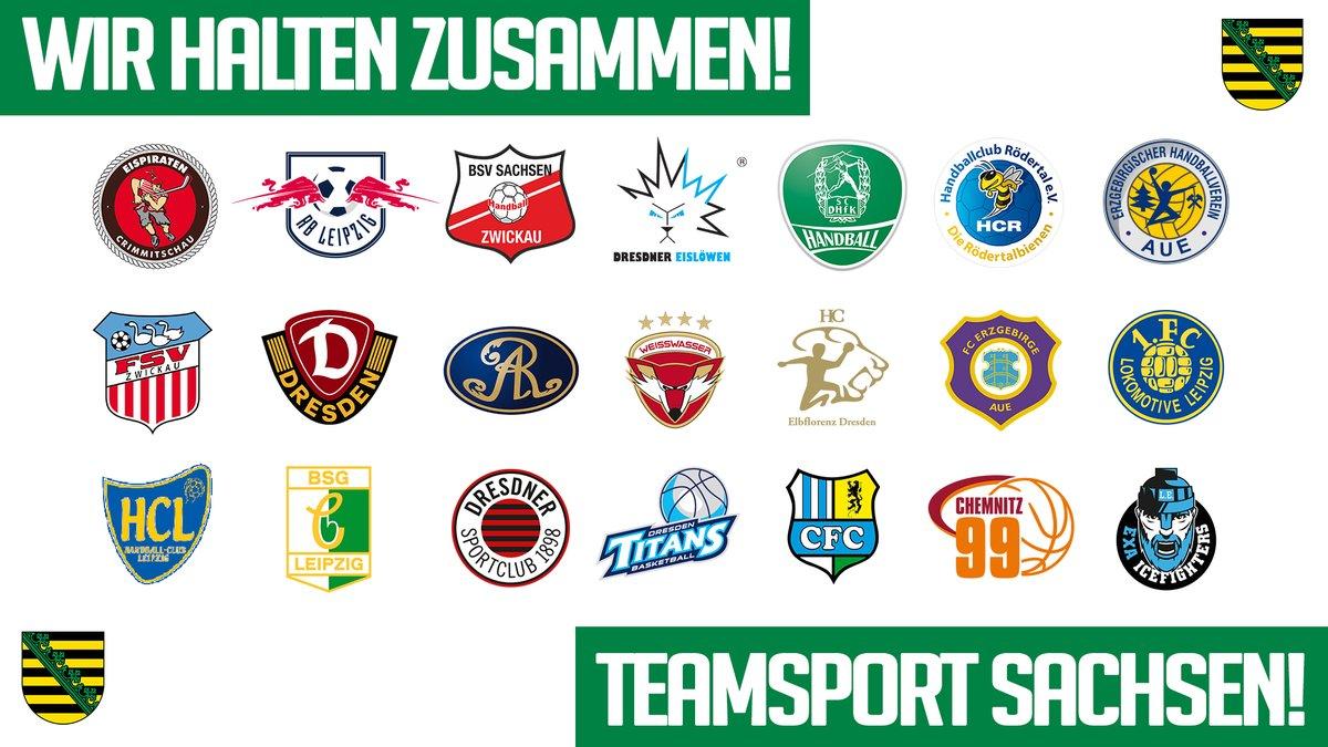 """21 sächsische Profivereine haben sich zu der Initiative """"Teamsport Sachsen"""" zusammengeschlossen. ℹ Alle Infos: https://t.co/c4V7KwsdMF https://t.co/cO11wEiOBl"""
