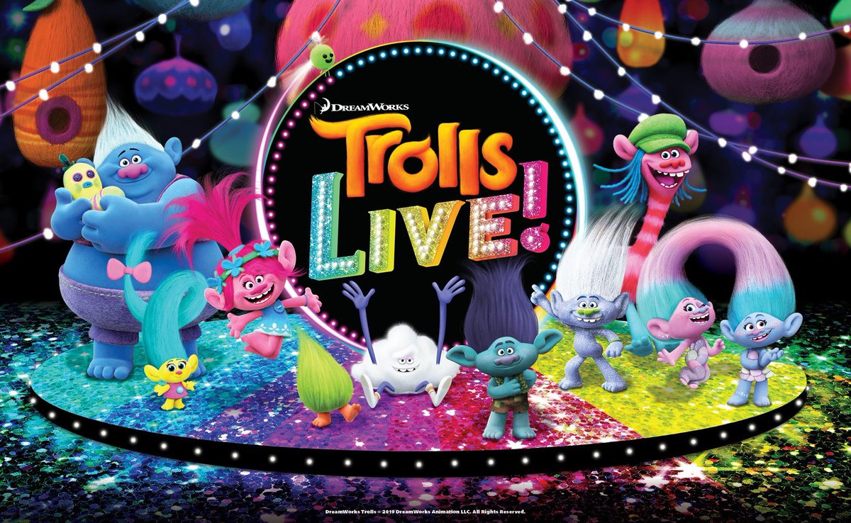 Originally scheduled Trolls Live (postponed from March 27-29th) has been rescheduled to September 11-13, 2020.  We ask that ticket purchasers use their originally tickets for the new dates, we look forward to seeing you in September!