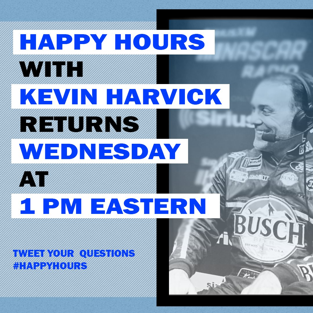 We're baaaaack!  Or at least we will be SOON!  IT IS OFFICIAL:  #HappyHours with @KevinHarvick & @MattYocum returns to @SiriusXMNASCAR (Ch. 90) on 3/25!