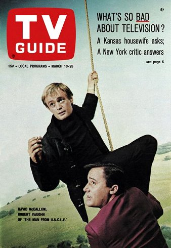 On this date in 1966 #DavidMcCallum and #RobertVaughn of the spy-fiction series #TheManFromUNCLE appeared on #TVGuide. https://t.co/XjFCdwP6ol
