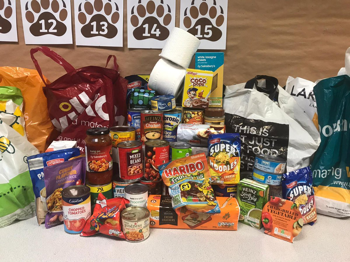 """test Twitter Media - This is just a small selection of the food donated by the wonderful children and parents of Hollywood in response to our non-uniform today! Even a toilet roll or two! Huge thanks to everyone x"""" https://t.co/QOLm7nfZAp"""