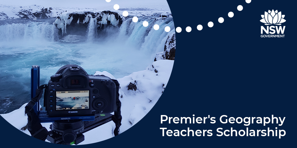 Put yourself in the picture and explore new horizons with a Premier's Geography Teachers Scholarship. Open to principals, assistant principals and teachers currently teaching geography in NSW secondary schools. Apply now at: https://t.co/FplGQeFKE0. #teachNSW #PTS21 #geography https://t.co/MAjoeBud5d
