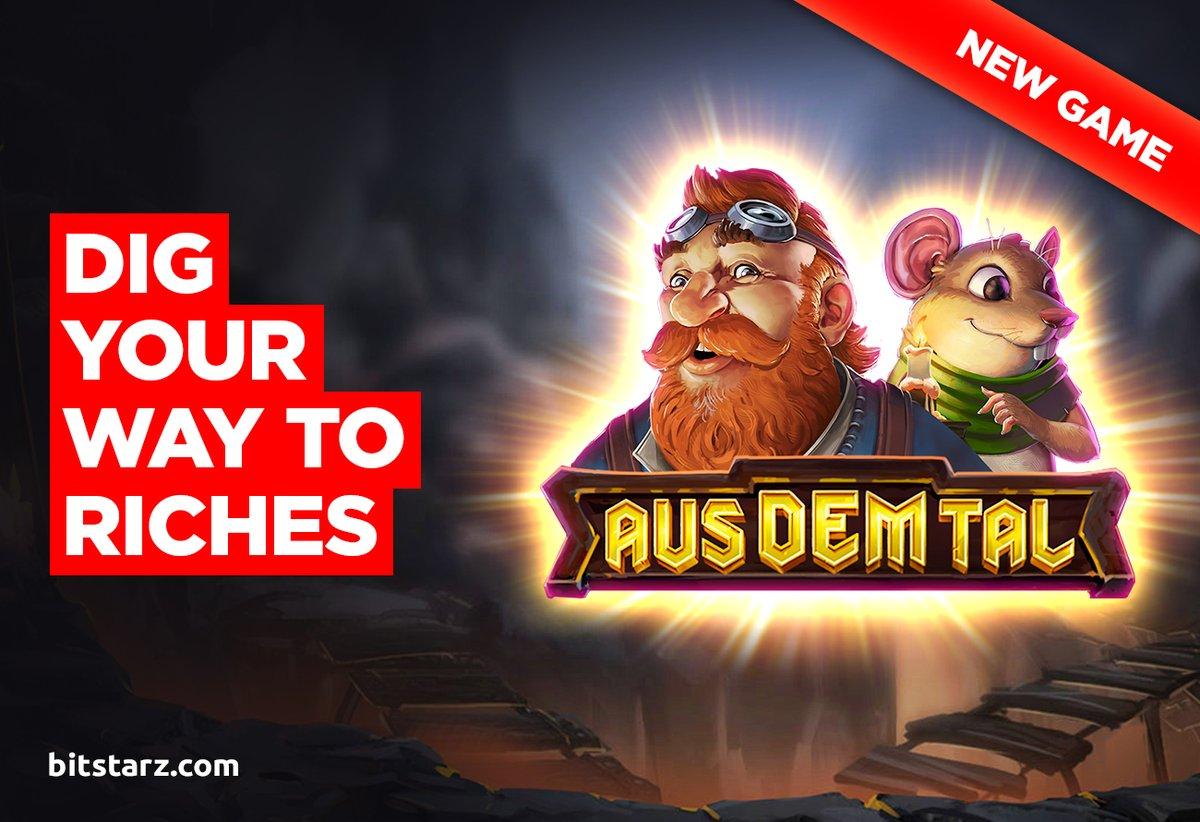 Delve deep into the bowels of Earth to find mega #wins as you spin the reels in Aus Dem Tal - brand-new from @EndorphinaGames.  #AusDemTal #Bitstarz #OnlineSlots #SlotGames #OnlineCasino #BitcoinCasino #NewGame #GameGuide