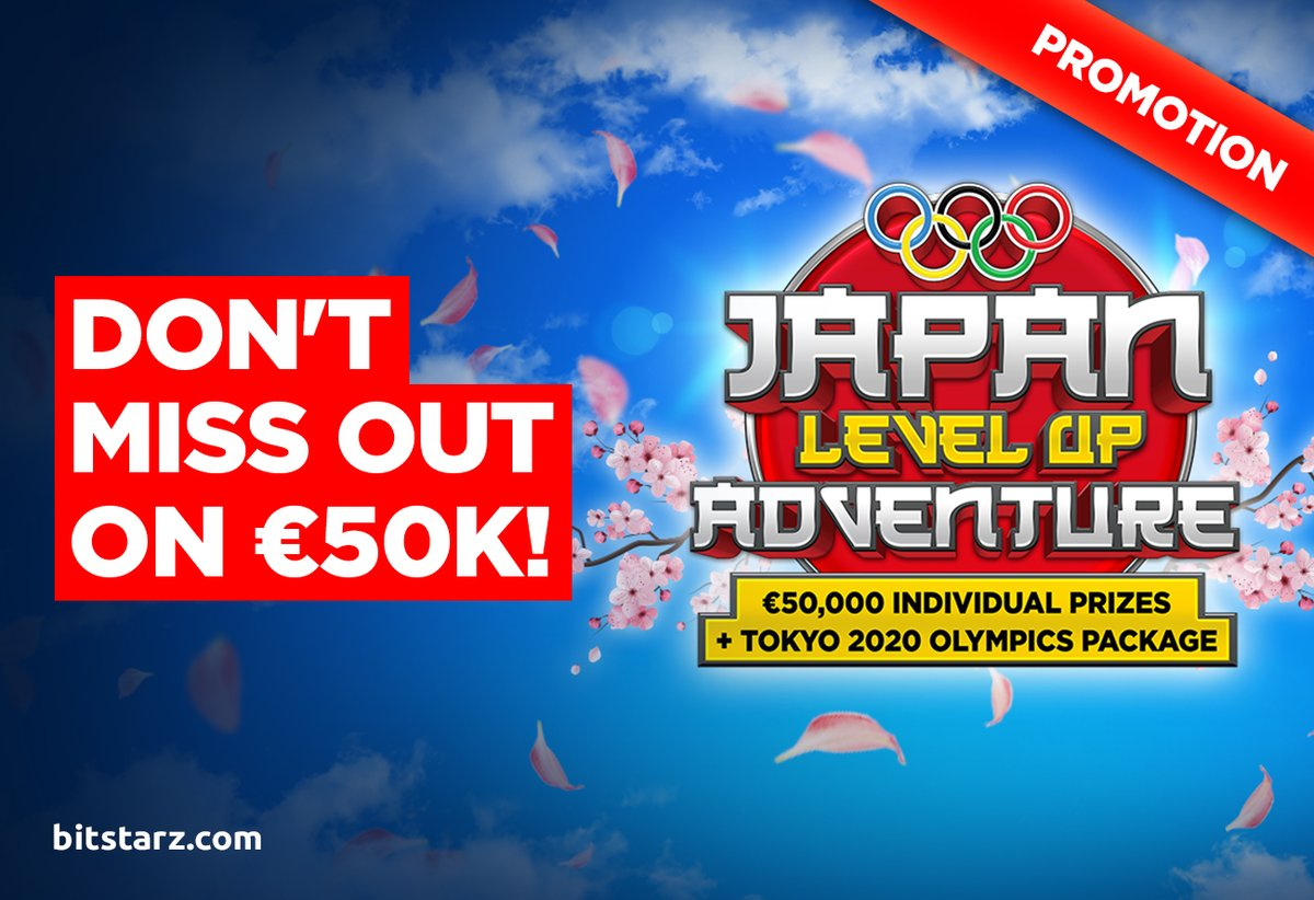 We're half way through the Japan Level Up Adventure! Don't miss out on €50k and two tickets to the Tokyo Olympics with #BitStarz!  #JapanLevelUpAdventure #tokyoolympics2020 #Promotion #BitcoinCasino #OnlineCasino #LuxuryTrip