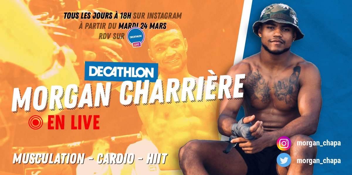 💥 Dès demain, et pour les 10 prochains jours : on laisse notre compte Instagram à Coach Morgan pour des cours de sport en live !   Soyez prêts 😏