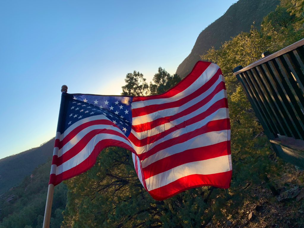 Saturday in Arizona. Blueberry pie, Stars and Stripes, hiking. #GodBlessAmerica
