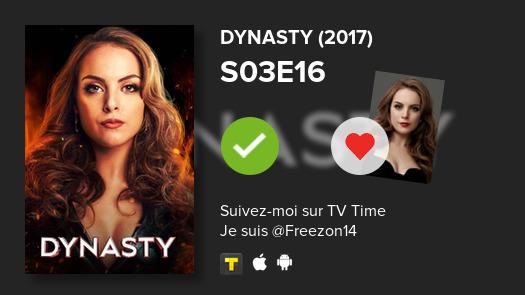 Je viens de voir cet épisode -->  S03E16 of Dynasty (2017)!#dynasty  #tvtime