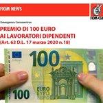 ⛑ Fiom News. Premio di 100 euro ai lavoratori dipendenti  ↘️ https://t.co/fLPQ9pq6yl ⚙️ https://t.co/icO5Jb2DcR