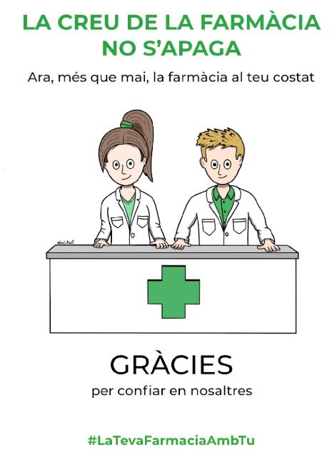 test Twitter Media - La creu de la farmàcia no s'apaga #SocFarmacèutica #SocFarmacèutic #JoActuo, però tu #QuedataCasa  #GràciesFarmacèutics  #GràciesFarmacèutiques (I gràcies @Farmaadicta & Botikart 👏) https://t.co/YTIHl6sqAc https://t.co/bLl0one9zB