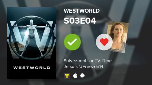 Je viens de voir cet épisode -->  S03E04 of Westworld!#Westworld  #tvtime