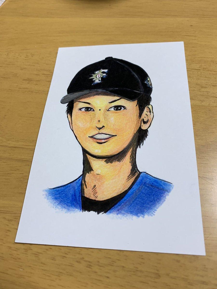 test ツイッターメディア - 野球がないから日ハムの石川亮選手描いた 完全自己満 https://t.co/Bam12l7eJV
