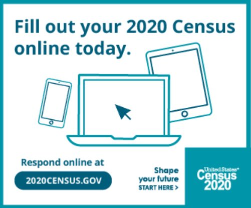 For our government to work more effectively, we need accurate data reflecting our current population. Of course, that only works if we take the time to fill out the census. Do your part by filling out the census today!