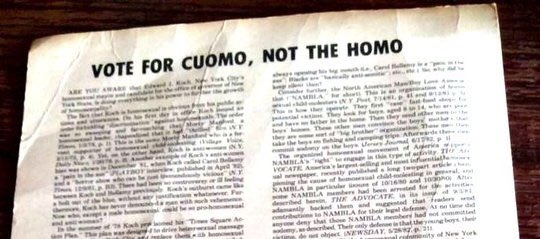 #cuomosexual was trending and I thought people discovered his father's old flyers.