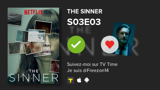 Je viens de voir cet épisode -->  S03E03 of The Sinner!#sinner  #tvtime