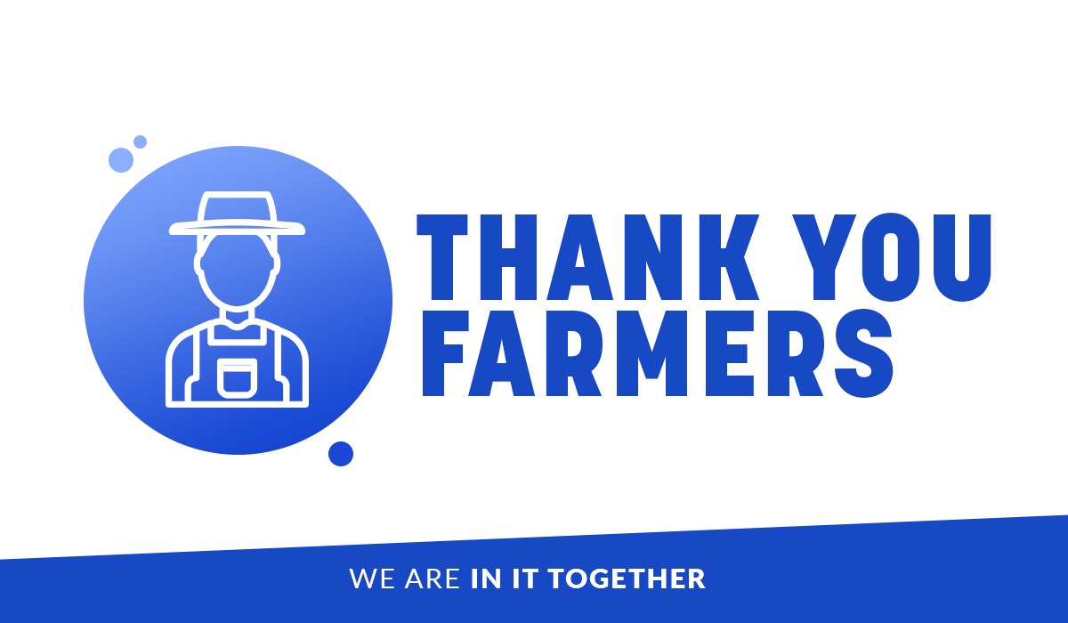 A big THANK YOU to all the hardworking American farmers who are rolling up their sleeves to keep this country fed as we pull together to overcome this national emergency.   #InItTogether #ThankAFarmer