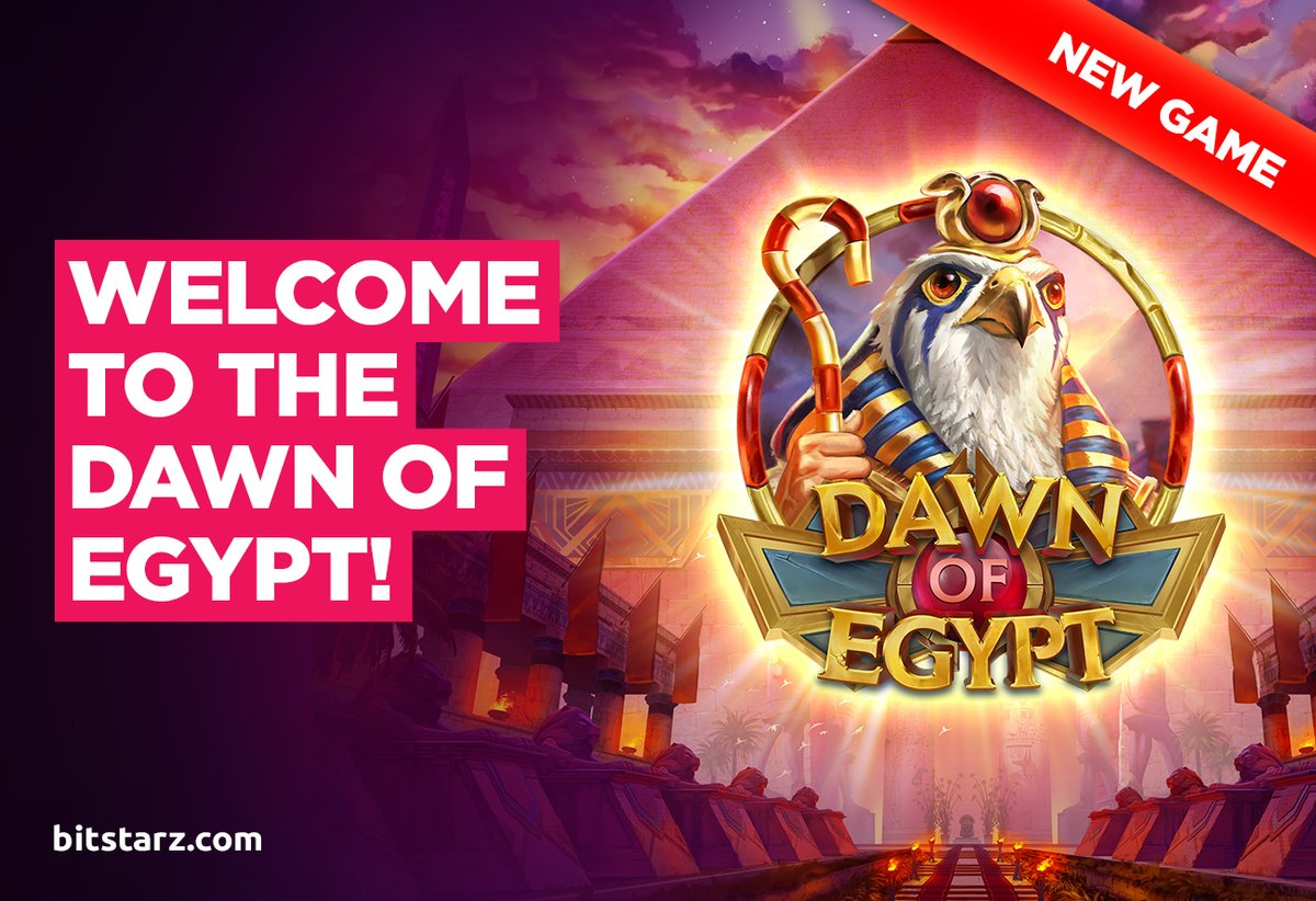 Head back in time to the Dawn of Egypt for your chance to #win big in this brand-new #slot from @ThePlayngo  #DawnOfEgypt #NewGame #GameGuide #OnlineSlots #SlotGames #OnlineCasino #BitcoinCasino