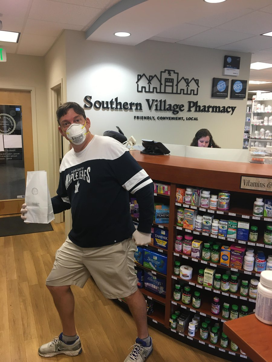 Our #UNCPharmacy folks just keep on making us proud. Dave Smithwick, BS Pharm '91, MBA '00, of Southern Village Pharmacy Chapel Hill is working hard to ensure patients stay healthy while still receiving the medications they need by offering curb-side pick-up. http://t.co/QbTEb…