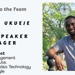 Please join us in welcoming Charles Ukueje as our new Event Speaker Manager.  #volunteer https://t.co/NXad8ZKHWO