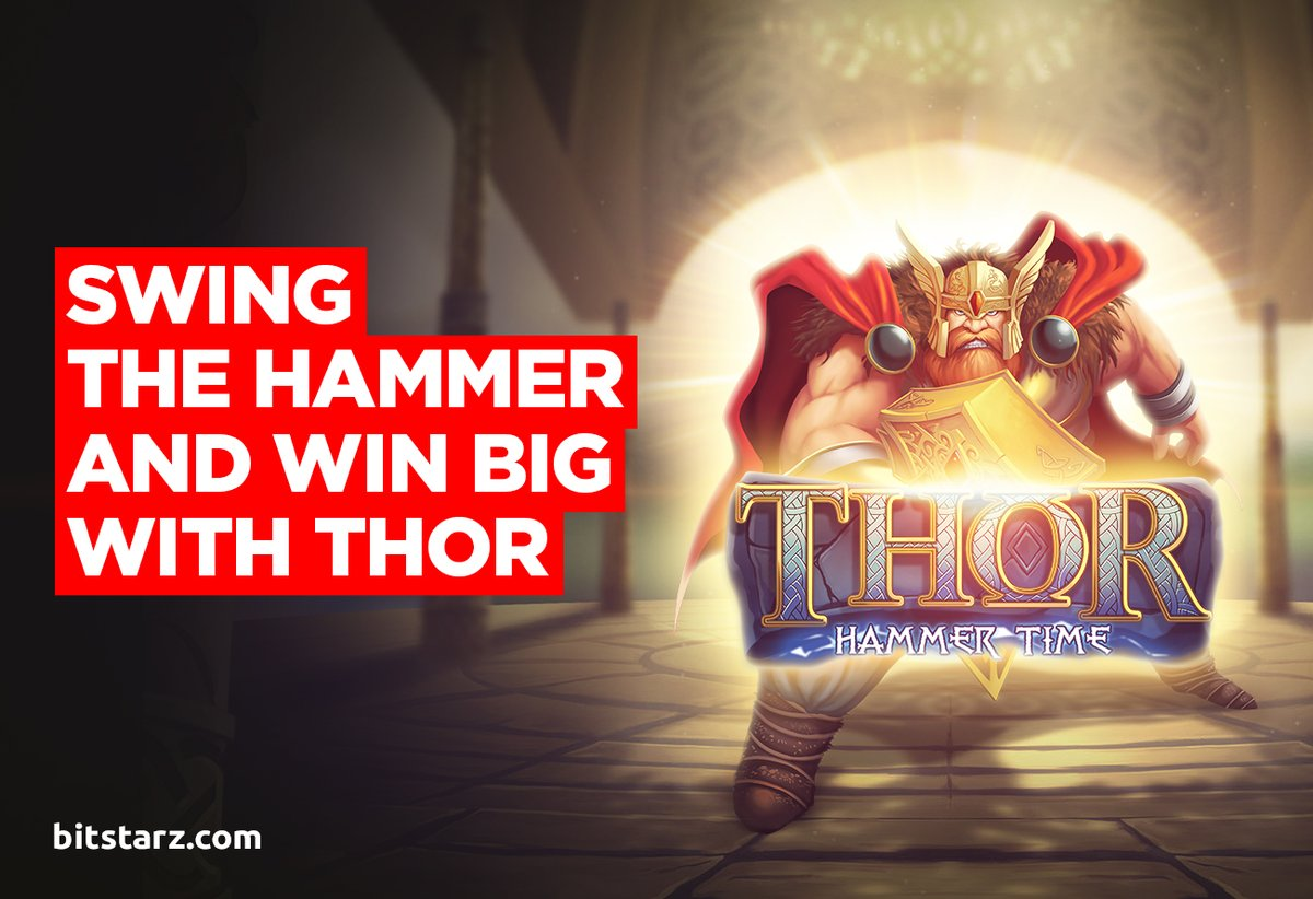 Expect Thunderous #Wins and Lightning in Thor: Hammer Time #Slot by @nolimitcity  #ThorHammerTime #GameGuide #OnlineSlots #SlotGames #OnlineCasino #BitcoinCasino
