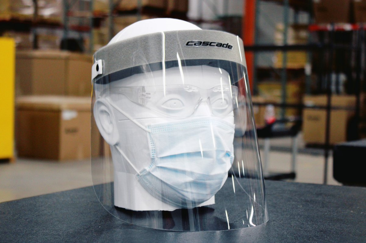 In the wake of a shutdown of non-essential business and disruption to the lacrosse season, @CascadeLacrosse has pivoted to manufacturing face shields designed fro health care professionals: