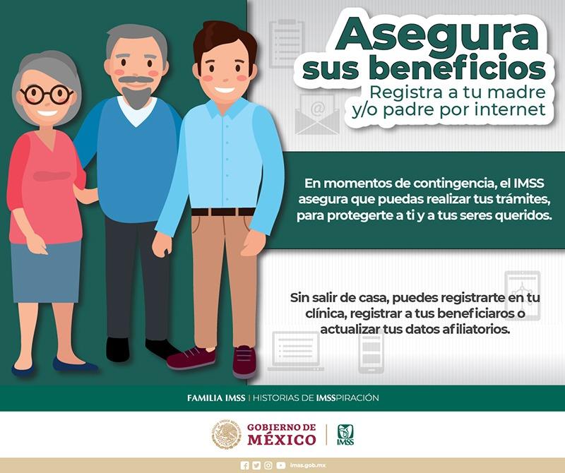 Para evitar traslados a las UMF's a realizar trámites de afiliación para tus beneficiarios, aprovecha los servicios digitales que el #IMSS te ofrece. #MéxicoUnido #SanaDistancia Entra la siguiente liga: