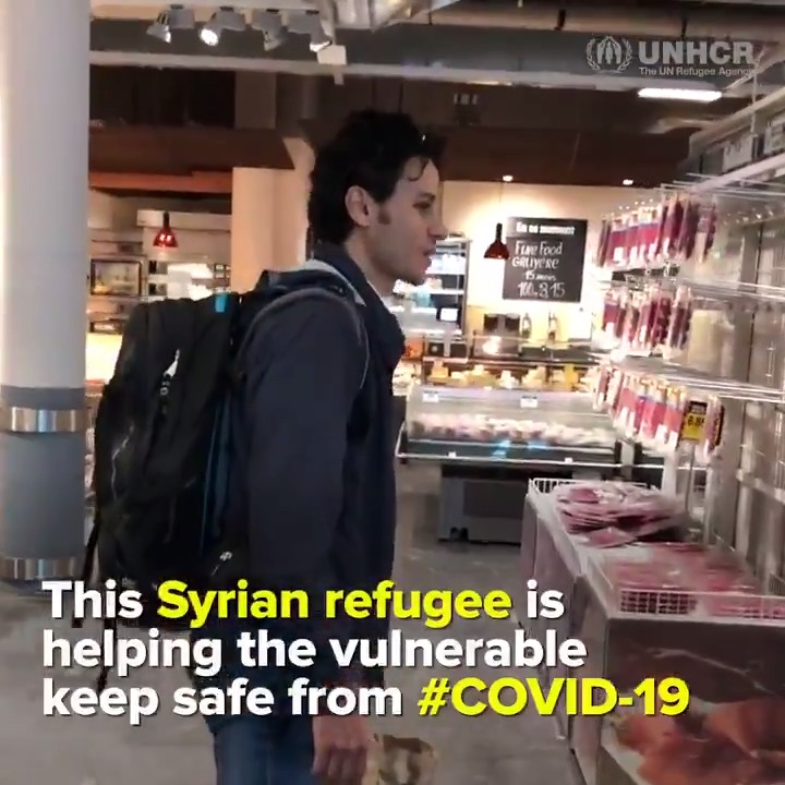 💙 A story of hope to brighten your day: Meet Shadi, a Syrian refugee doing remarkable acts of solidarity for the elderly in Switzerland  #COVID19 #coronavirus