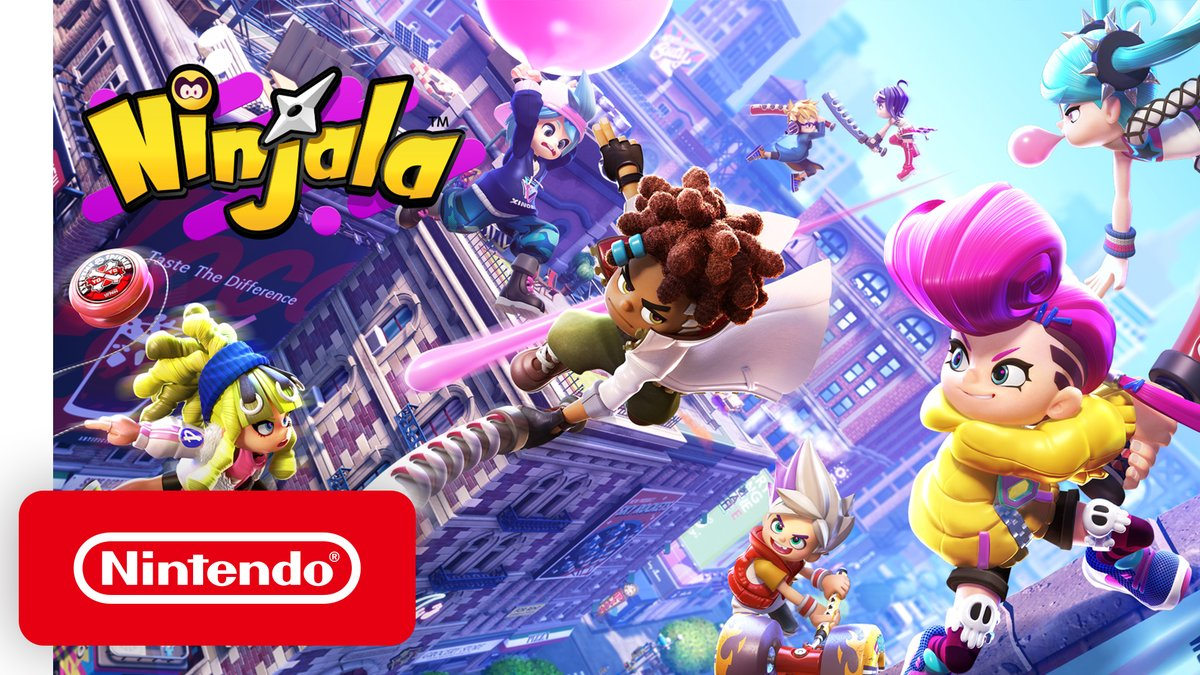 Will the real Master Ninja please stand up? Chew Ninja-Gum and unleash your Ninjitsu skills in a whacky new multiplayer free-to-play action game! Prove your mettle as the ultimate ninja in Ninjala, sneaking up to #NintendoSwitch this May!